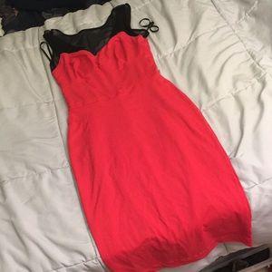 Bebe dress with mesh